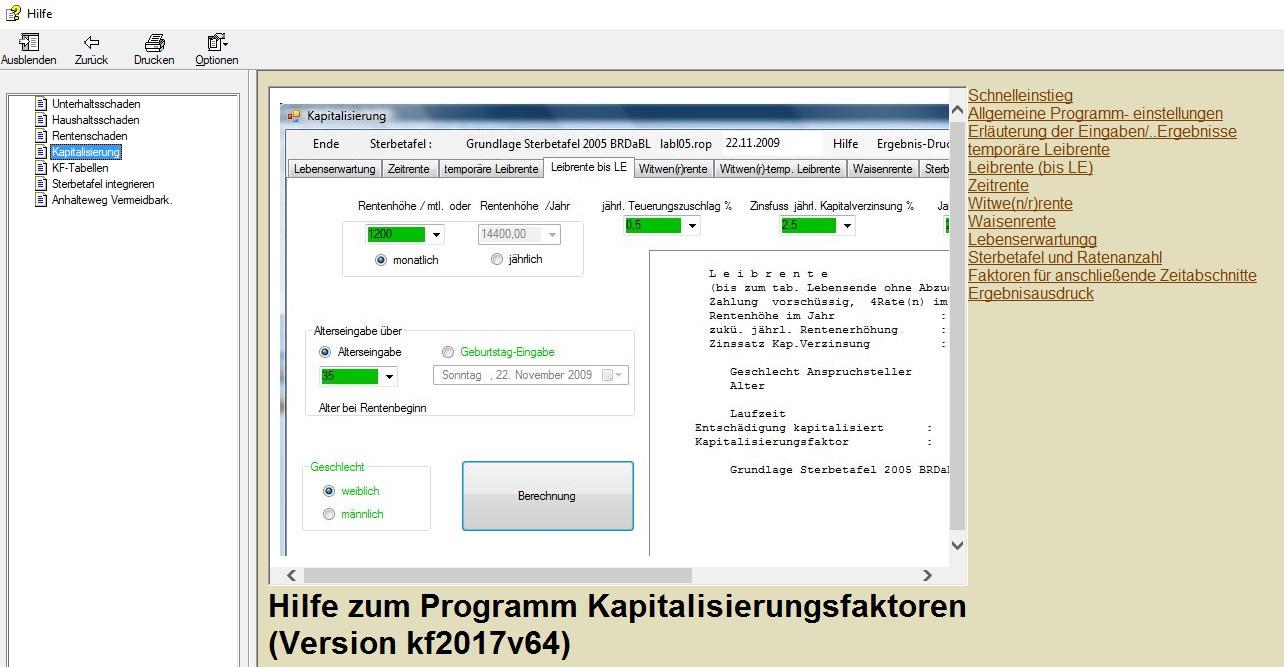 Hilfe für Programmanwendung